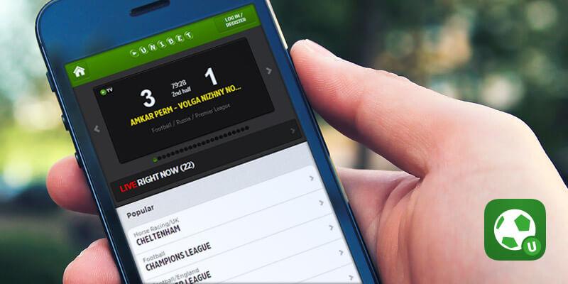Application mobile d'Unibet